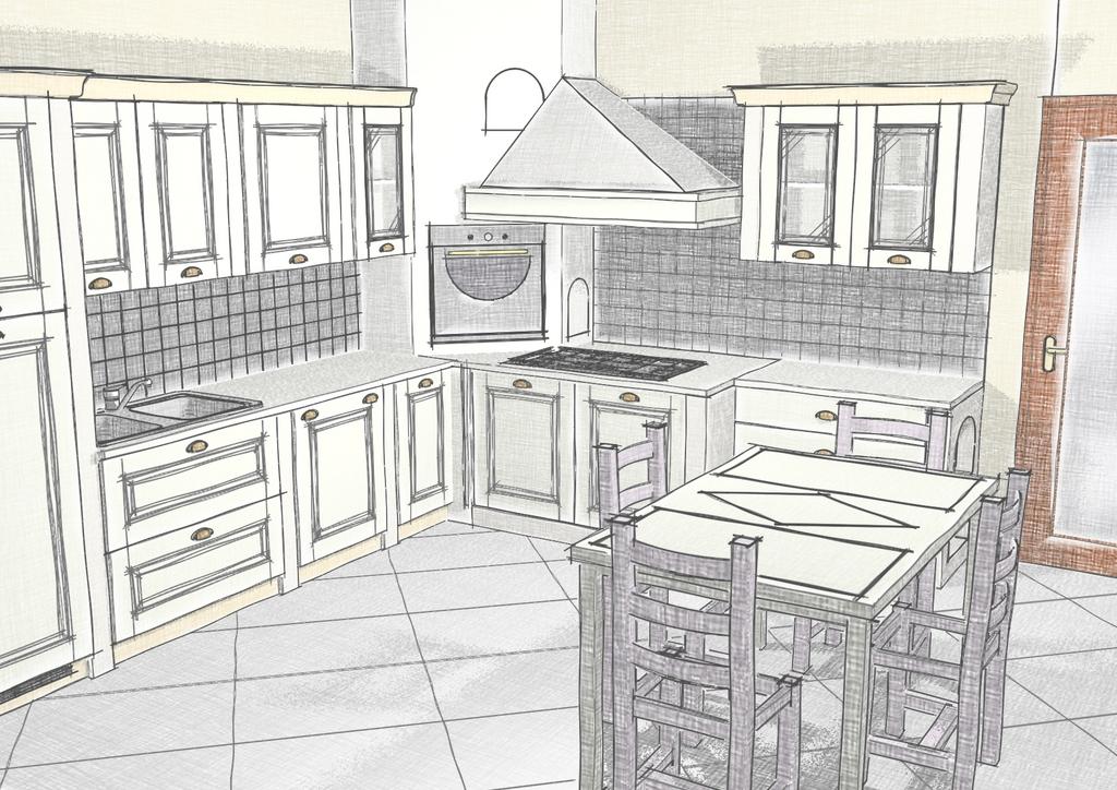 Life for Cucina e grandi disegni della stanza