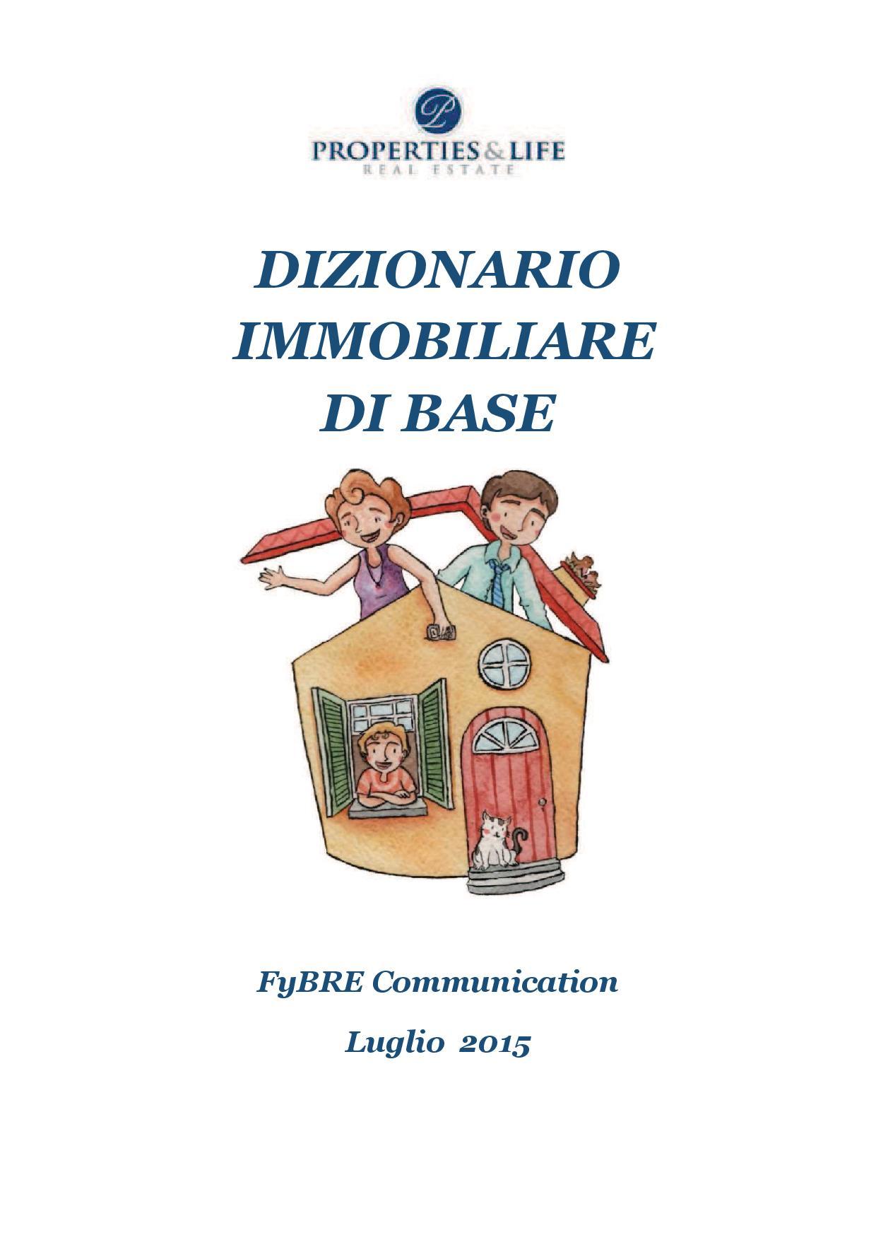 DIZIONARIO IMMOBILIARE DI BASE
