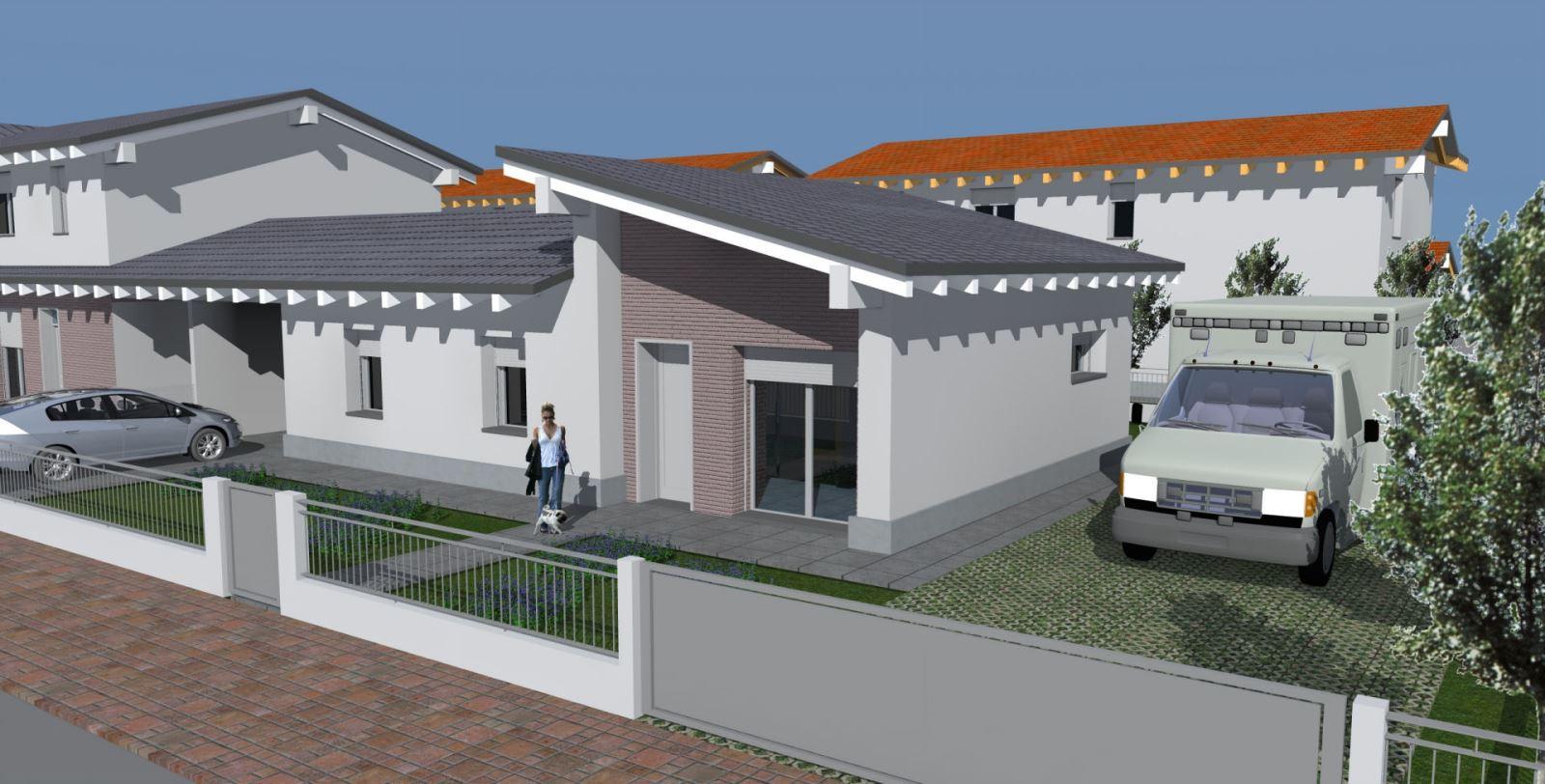 Suzzara casa s a s for Progetti ville bifamiliari moderne